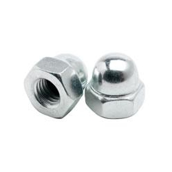 Dome Nuts, Mild Steel Bright Zinc Plated & Galvanised, DIN 1587