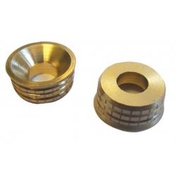 Turned Brass Screw Cups