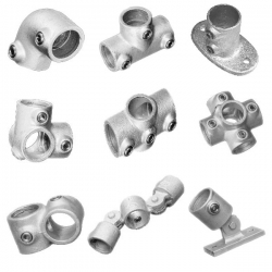 Size 8(G40) 48.3mm Galvanised Handrail Fittings (Kee Klamp Compatible)