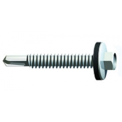 Timco Hex Self Drill Screws Steel Heavy Steel up to 12mm with washer