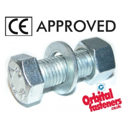CE Approved Assembled Bolts - Hexagon Head Set, Nut & Washer Grade 8.8