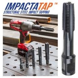 "ImpactaTap Steel Threading Tap With 3/4"" Weldon Shank"