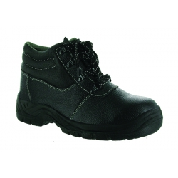 Black Laced Safety Hiker Boot