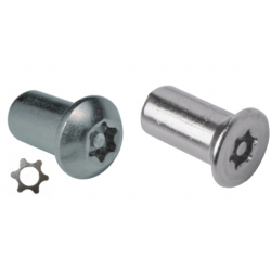 6 Lobe Pin Barrel Security Nuts Stainless Steel
