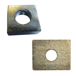 Square & Rectangular Steel Nuts Bright Zinc Plated