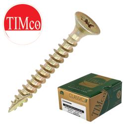 Timco Multi-Purpose Classic Woodscrews, Steel Zinc & yellow plated