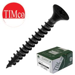 Timco Multi-Purpose Classic Woodscrews, Black Passivated