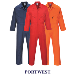 Portwest Safety Zip Front Overalls