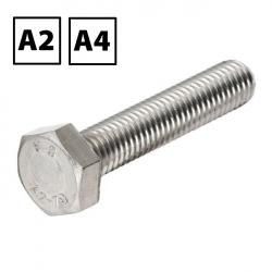 Stainless Steel Hexagon Set Screw DIN 933 A2 & A4