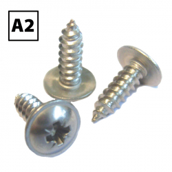 Stainless Steel Flange Pozi AB Self Tapping Screws A2 BS4174