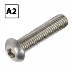 Stainless Steel Button Socket Screw A2 BS 4168