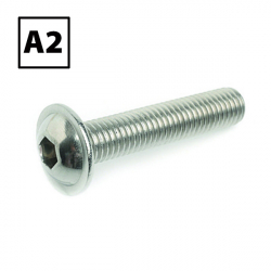 Stainless Steel Flange Button Socket Screw A2 (304), ISO 7380-2