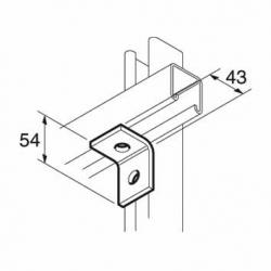 SB501 P1028 90 Degree Channel Bracket, Unistrut compatible, galvanised