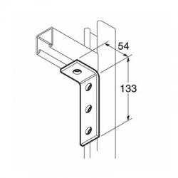 SB505 P1278 90 Degree Channel Bracket, Unistrut compatible, galvanised