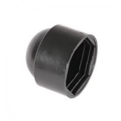 M6 (10mm) Nut & Bolt Cover Cap, Black Plastic Polyethylene