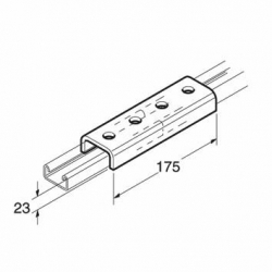 SB650 Jointing Channel 18mm, Unistrut compatible, galvanised