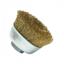 Bosch 70mm Crimped Wire Cup Brush Brass Coated P/No. 1 608 614 020