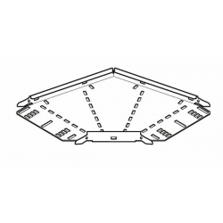 Cable Tray, 90 Degree Bend Medium Return Flange 100mm, Pre-Galvanised