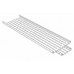 Cable Tray, Straight 3 Metre Length Medium Return Flange 100mm, Pre-Galvanised