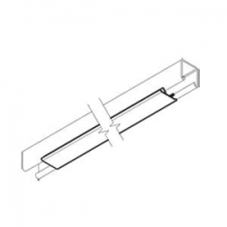 Polypropylene Channel Cover Strip (Capping / Lid) White 3 Metre. Unistrut compatible