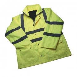 Hi-Vis Parka Jacket Medium EN471 Class 3 Yellow