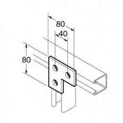 SB600 / P1036 L Bracket, Unistrut compatible, galvanised