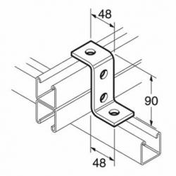 SB512 P1453 80mm Z Bracket, Unistrut compatible, galvanised