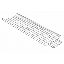 Cable Tray, Straight 3 Metre Length Medium Return Flange 225mm, Pre-Galvanised