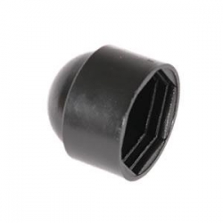 M16 (24mm) Nut & Bolt Cover Cap, Black Plastic Polyethylene