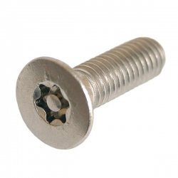 M5 x 25 Countersunk Socket Machine Screw Resistorx Stainless steel (A2 304) TX-25H