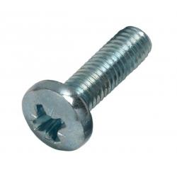 M6 x 16 Pan Pozi Machine Screw Mild Steel Bright Zinc Plated, DIN 7985