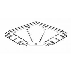 Cable Tray, 90 Degree Bend Medium Return Flange 600mm, Pre-Galvanised