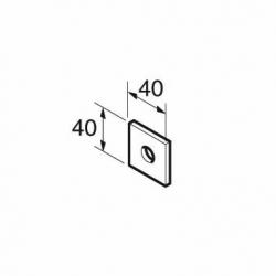SB506/10 P1063 M10 Square Plate 12mm Hole, Unistrut compatible, galvanised