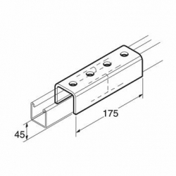 SB651 / P1377 Jointing Channel 41mm, Unistrut compatible, galvanised