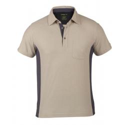 Small Work-It Cuillin Polo Shirt Khaki/Grey