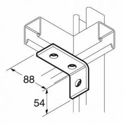 SB503 P1458 90 Degree Channel Bracket, Unistrut compatible, galvanised