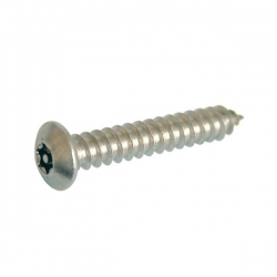 """No. 12x 1"""" 1/2 (5.5 x 38mm)  Button Self Tapping Screw Resistorx Stainless Steel (A2 304) TX-30H"""