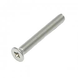 M5 x 10 Machine Screw, Countersunk Pozi No.2 Stainless Steel A2 (304)