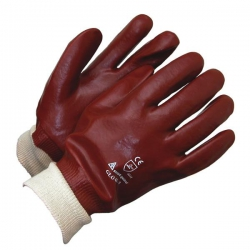 PVC Knit Wrist Glove Size XL (1 pair)