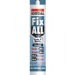 Soudal Fix All High Tack Adhesive Crystal (Fixall) 290ml