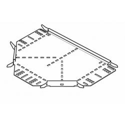 Cable Tray, Equal Tee Medium Return Flange 600mm, Pre-Galvanised