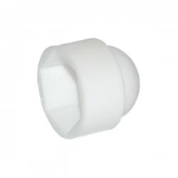 M5 (8mm) Nut & Bolt Cover Cap, White Plastic Polyethylene