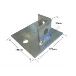SB704 / P2072-S1 Single Channel Base Plate, Unistrut compatible, galvanised