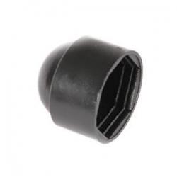 M5 (8mm) Nut & Bolt Cover Cap, Black Plastic Polyethylene