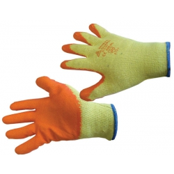 Latex Grip Gloves Orange Size L (1 pair)
