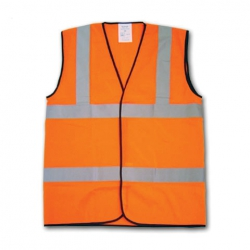 Hi-Vis Orange Warning Waistcoat Medium EN471 Class 2