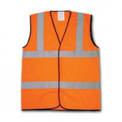 Hi-Vis Orange Warning Waistcoat Large EN471 Class 2
