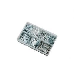1000pce 1/16-5/32 Split Pin Assortment. Bright Zinc Plated. Kitmaster KM105134