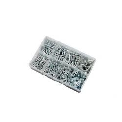 "500pce 1/8""-3/16"" Aluminium Blind Rivets & Washers Kit. Bright Zinc Plated. Kitmaster KM105166"