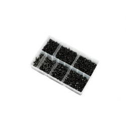 700pc 6-10g Pozi Flange AB Self Tapping Screw Kit Black Phosphate. Kitmaster KM105105